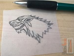 farkas rajz tükrözve