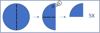 fényvisszaverő kitűző készítése ábra