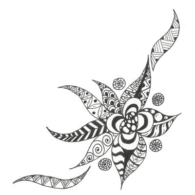 fekete-fehér zen rajz