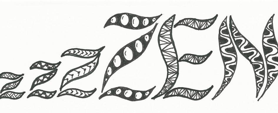 ZEN rajz fekete fehér zentangle