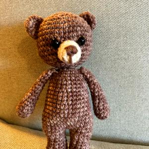 horgolt medve, kismackó, mackó, medve